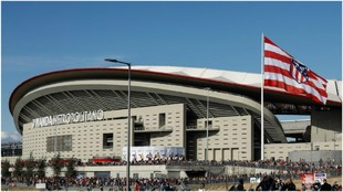 The Wanda Metropolitano before Atletico Madrid's inaugural match...