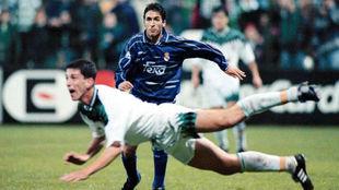 Imagen del archivo del encuentro entre el Real Madrid y el...