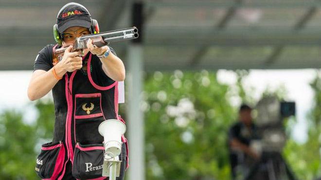 Fátima Gálvez en competición.