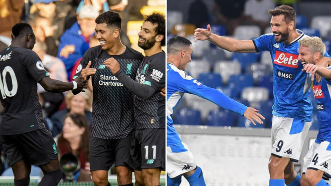 Mané, Firmino y Salah y Callejón, Llorente y Mertens.