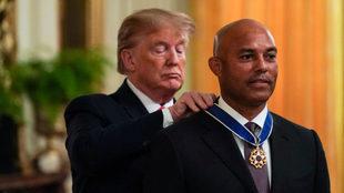El pelotero fue homenajeado con la Medalla Presidencial de la Libertad