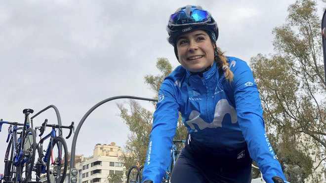 Sheyla Gutiérrez, ciclista de Movistar.