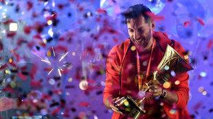 Rudy Fernández con la copa de campeón del mundo
