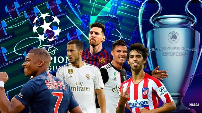 Mbappé, Hazard, Messi, Ronaldo y Joao Félix.