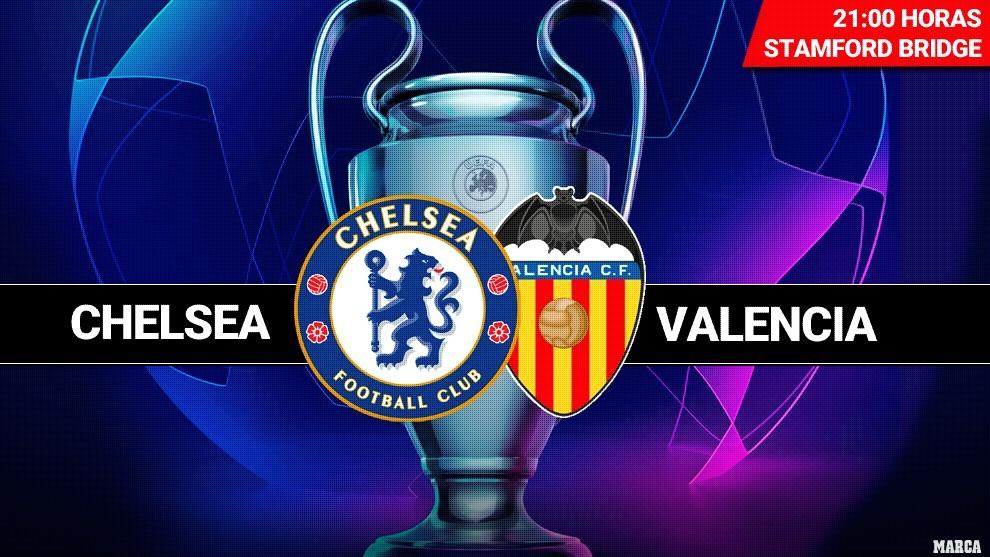 Chelsea - Valencia: horario y dónde ver en TV hoy el partido de Liga...
