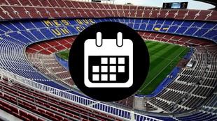 Calendario de partidos oficiales del FC Barcelona