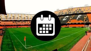 Calendario de partidos oficiales del Valencia
