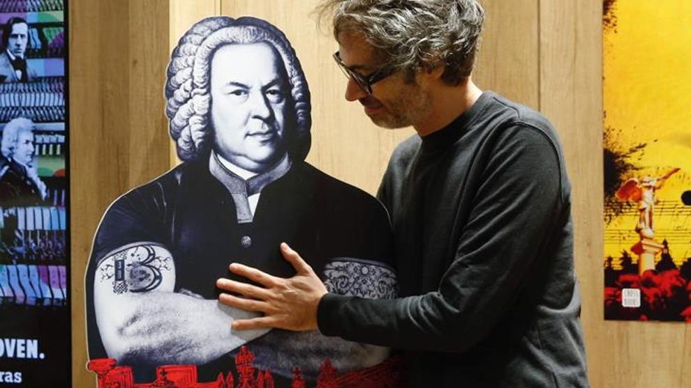 James Rhodes durante la presentación de su nuevo libro, 'Bach, el...