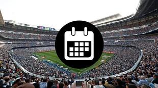 Calendario de los partidos oficiales del Real Madrid