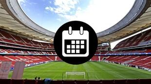 Calendario de partidos oficiales del Atletico de Madrid