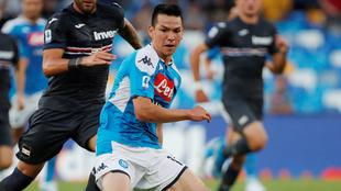 Lozano en el duelo ante Sampdoria