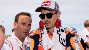 Alberto Puig y Jorge Lorenzo.