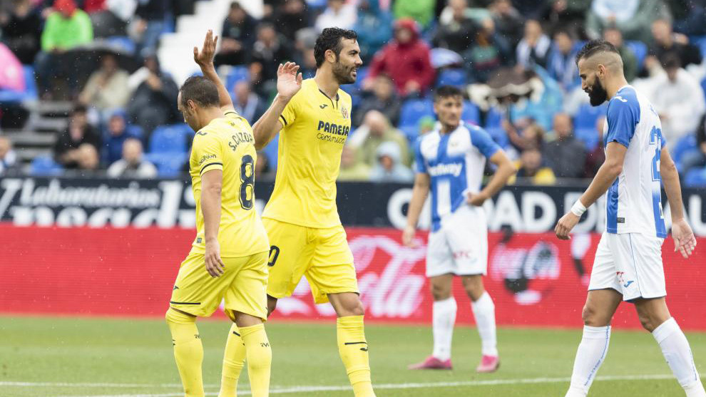 Iborra y Cazorla en el partido ante el Leganés