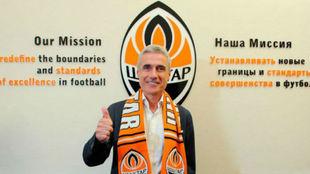 Luís Castro (58), en su presentación como técnico del Shakhtar...