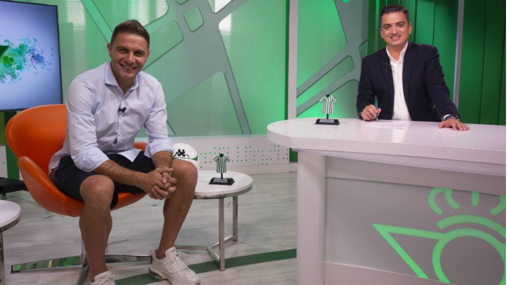 Joaquín, en la entrevista en Betis TV
