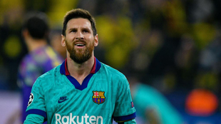 Messi, contra el Borussia