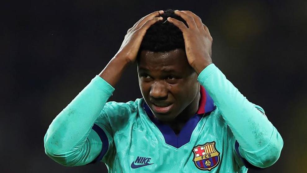 Ansu Fati, en el partido contra el Borussia