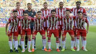 El once del Almería frente a la UD Las Palmas