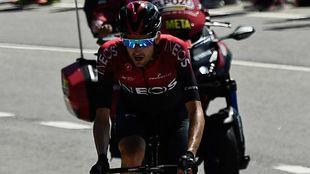 Wout Poels, en la Vuelta 2019.
