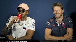 Lewis Hamilton y Romain Grosejan