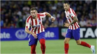 Héctor Herrera, en un partido de pretemporada con el Atlético de...