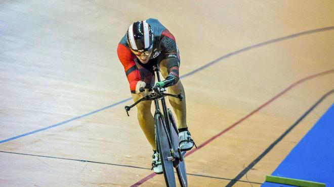 Alfonso Cabello, en la prueba del kilómetro del Campeonato de España...