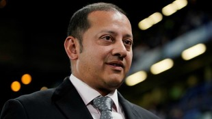 El presidente del Valencia, Anil Murthy, el martes en Stamford Bridge.