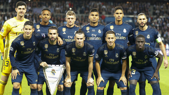 Image result for real madrid vs psg squad