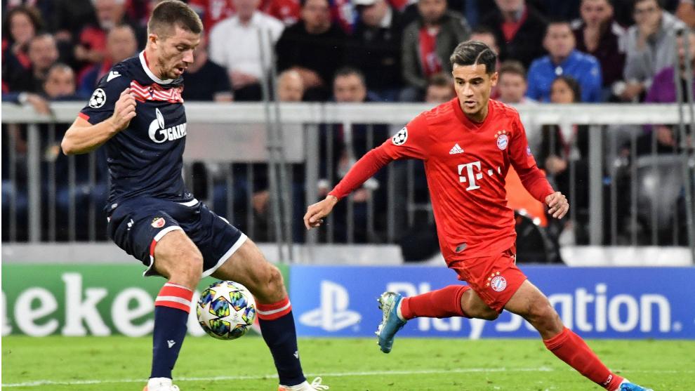 Coutinho fue uno de los mejores del Bayern ante el Estrella Roja