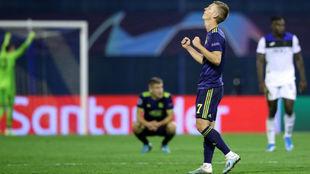Olmo celebra la victoria del Dinamo.