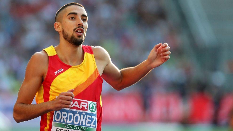 Saúl Ordóñez, en el Campeonato de Europa de atletismo.