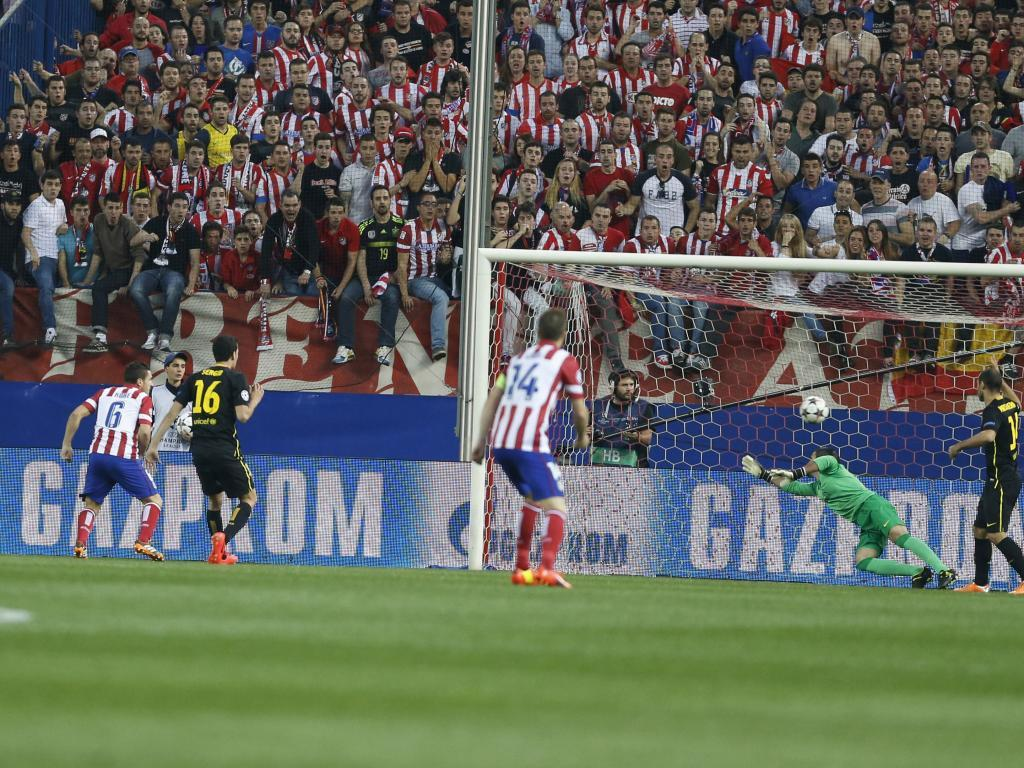 Koke anota el único gol del partido contra el Barcelona