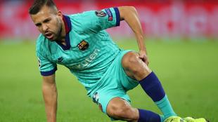 Jordi Alba estará dos semanas de baja por una lesión muscular.
