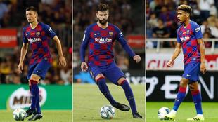 Lenglet, Piqué y Todibo, esta temporada