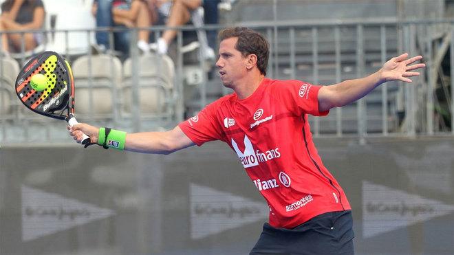 Paquito Navarro, en el Cascais Padel Master.