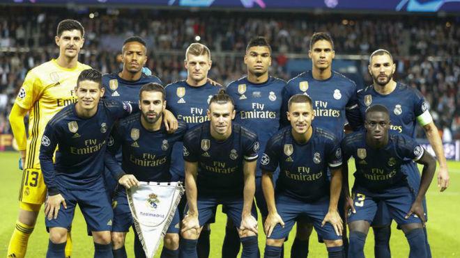 Once del Real Madrid en el Parque de los Príncipes
