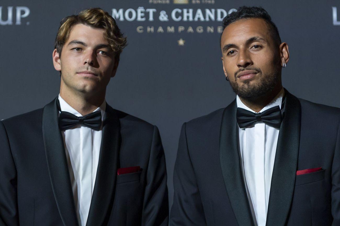 Taylor Fritz y Nick Kyrgios, en la alfombra roja de la noche de gala de la Laver Cup en Ginebra