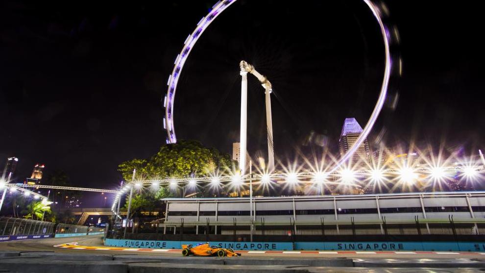 El Gran Premio de Singapur, en 2018.