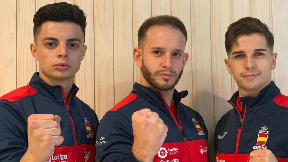 Alejandro Manzana, Pepe Carbonell y Sergio Galán.