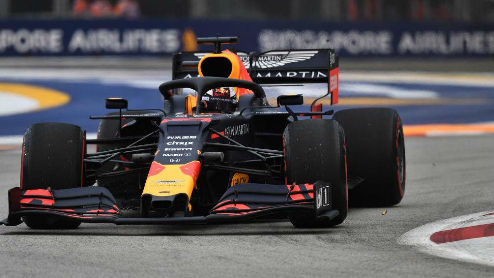 Max Verstappen, en el Libre 1 del GP de Singapur.