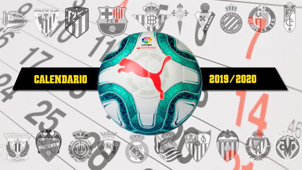 diseño de calidad venta profesional Últimas tendencias Calendario Liga Santander 2019 - 2020 - Primera División ...