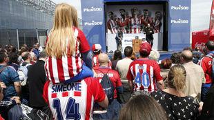 Aficionados del Atlético.