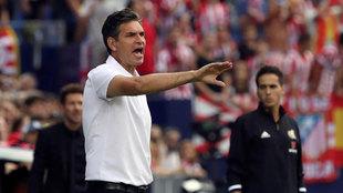 Mauricio Pellegrino, durante el encuentro frente al Atlético de...