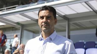 Michel en el encuentro ante el Sporting