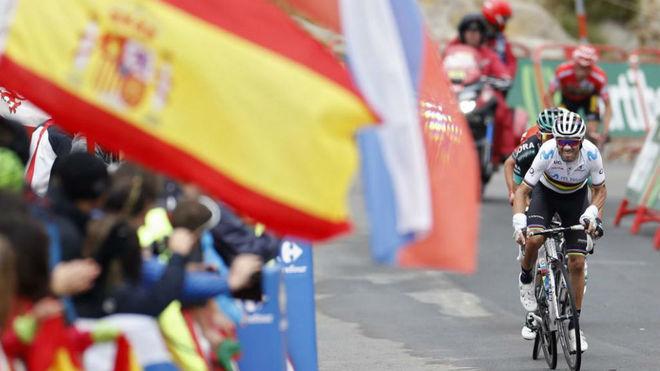 Alejandro Valverde, durante la Vuelta a España.