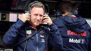 Horner, durante el pasado Gran Premio de Italia.