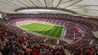 Panorámica del Wanda Metropolitano en un partido de la Liga...