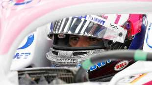Checo Pérez durante el GP de Singapur