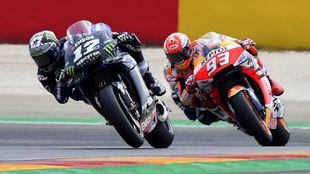 Viñales, por delante de Márquez en MotorLand.