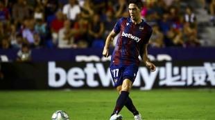 Nikola Vukcevic en el encuentro ante el Villarreal